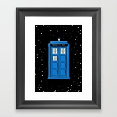 TARDIS in Space Framed Art Print