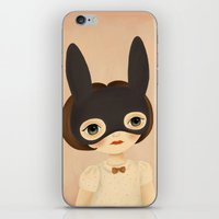bunny iPhone & iPod Skins featuring Bunny by The Midnight Rabbit