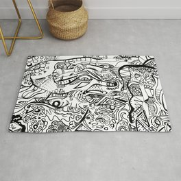 Hope abstract marker doodle Rug
