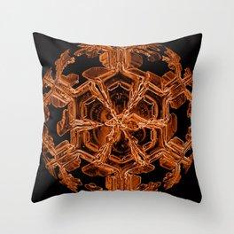 Orange Sexy Snow Throw Pillow