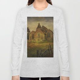 St Clement's Old Romney From The East Long Sleeve T-shirt