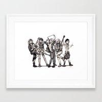 jem Framed Art Prints featuring Pearl Jem by Vexed Wisecracker