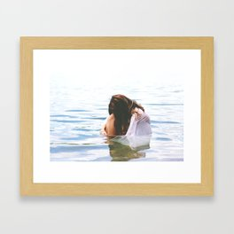Thoughts of the Sea Framed Art Print