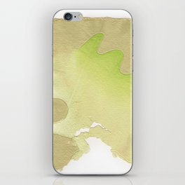 abstract lines on handmade paper iPhone Skin