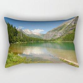 Photos USA Avalanche Glacier Montana Nature Mountains Lake Parks Scenery Water mountain park landscape photography Rectangular Pillow