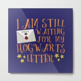 Waiting For My Letter - R Metal Print
