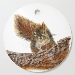 Cheeky the Red Squirrel by Teresa Thompson Cutting Board
