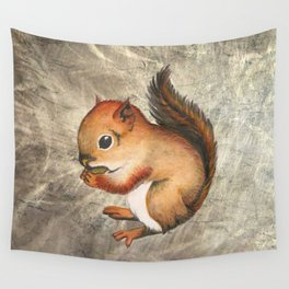 Sciurus (Baby Squirrel) Wall Tapestry