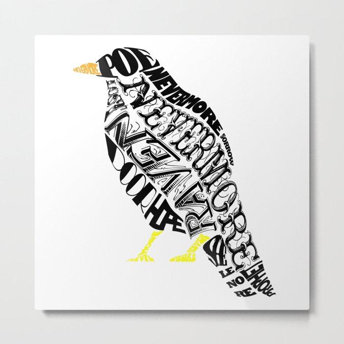 The Raven - Edgar Allan Poe Metal Print
