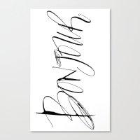 bonjour Canvas Prints featuring Bonjour! by Stephanie Fishwick