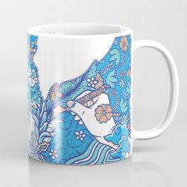 batik culture on garuda silhouette illustration Coffee Mug