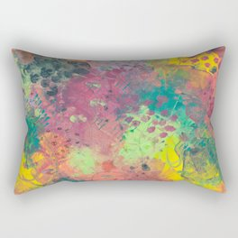 Abstract 06 Mixed Media Acrylics on Canvas Rectangular Pillow
