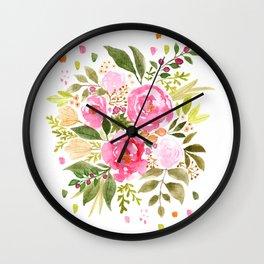 Nicola Bouquet Wall Clock