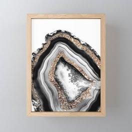 Agate Gold Glitter Glam #1 #gem #decor #art #society6 Framed Mini Art Print