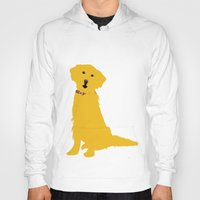 golden retriever Hoodies featuring Golden Retriever  Dog by ialbert