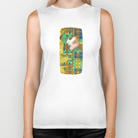nouveau Biker Tanks featuring Nouveau Girl by Steve W Schwartz Art