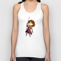 castlevania Tank Tops featuring I break in like a belmont!!! by Laharl