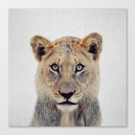 Lioness II - Colorful Canvas Print