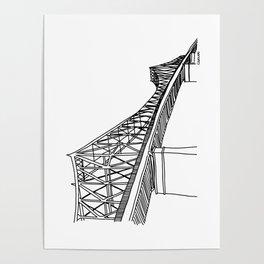Montreal - Pont Jacques-C - Black Poster