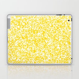 Tiny Spots - White and Gold Yellow Laptop & iPad Skin