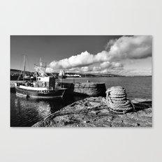 Old Fishing Boat Lerwick Shetland Canvas Print
