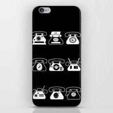 Fifties' Smartphones Black iPhone & iPod Skin