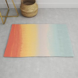 Ceramic Sunset // Multi Color Speckled Drip Summer Beach California Surf Vibes Wall Hanging Design Rug