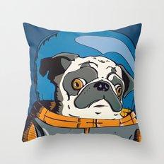 Space Pug Throw Pillow