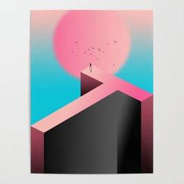 Surreal Dream of lonliness Poster