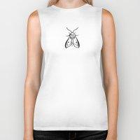 moth Biker Tanks featuring Moth by Dana Martin