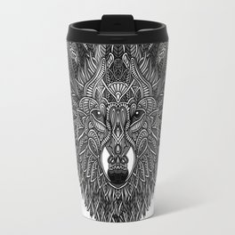 Gray Wolf Travel Mug