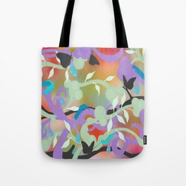 Black Butterflies Tote Bag