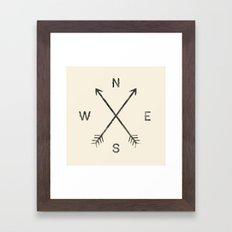 Compass (Natural) Framed Art Print