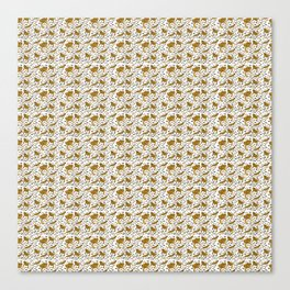 Bearded Dragon pattern Canvas Print