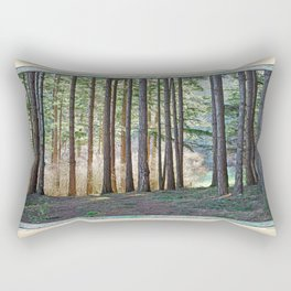 MEADOW LIGHT ON THE FOREST EDGE Rectangular Pillow