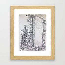 Chicago - Wrigley Mather Framed Art Print