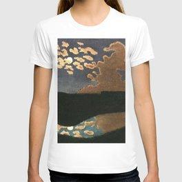 Moonlight reflections coastal landscape painting by Felix Vallotton T-shirt
