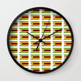 Flag of zimbabwe -Zimbabwe,Zimbabwean,Zimbo,harare,Bulawayo Wall Clock