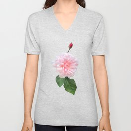 Pale Pink Garden Beauty Unisex V-Neck