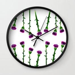 Fan's pattern design-Red carnation Wall Clock