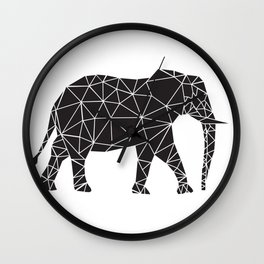 Elephant Angles (Help Save Endangered Elephants) Wall Clock