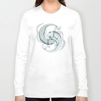 pisces Long Sleeve T-shirts featuring Pisces by Vibeke Koehler