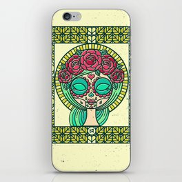 Sugar Skull Girl iPhone Skin