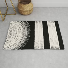 Nordic balck and white abstract Rug