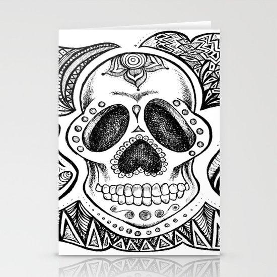 Vintage Sugar Skull Stationery Cards