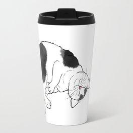 Cat Rolling and Purring Travel Mug