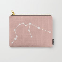 Aquarius Zodiac Constellation - Pink Rose Carry-All Pouch