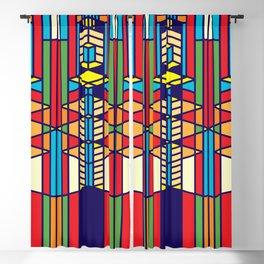 Frank Lloyd Wright Pattern One Blackout Curtain