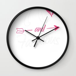 70th-Birthday-Gift---70-And-Fabulous Wall Clock