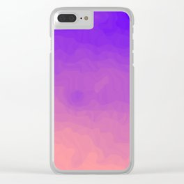 Pink and Purple Ombre - Swirly - Flipped Clear iPhone Case